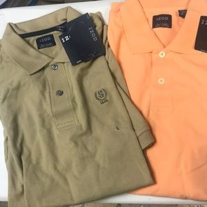 NWT Izod - 2 Men's shirts. Large.